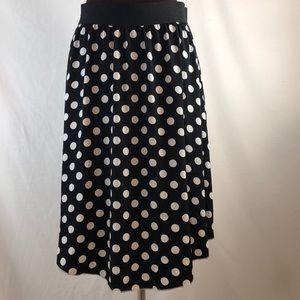 LuLaRoe Black Polka Dot Skirt